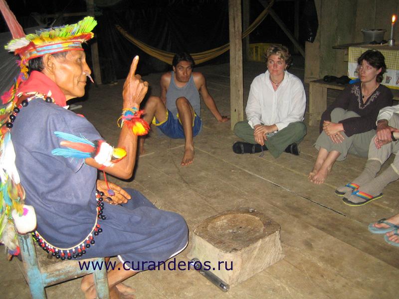 Курандеро шаман из амазонского племени
