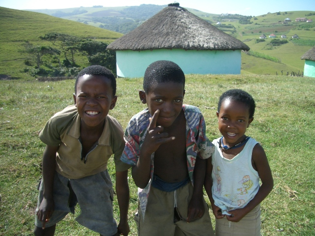 дети африканского племени Коса