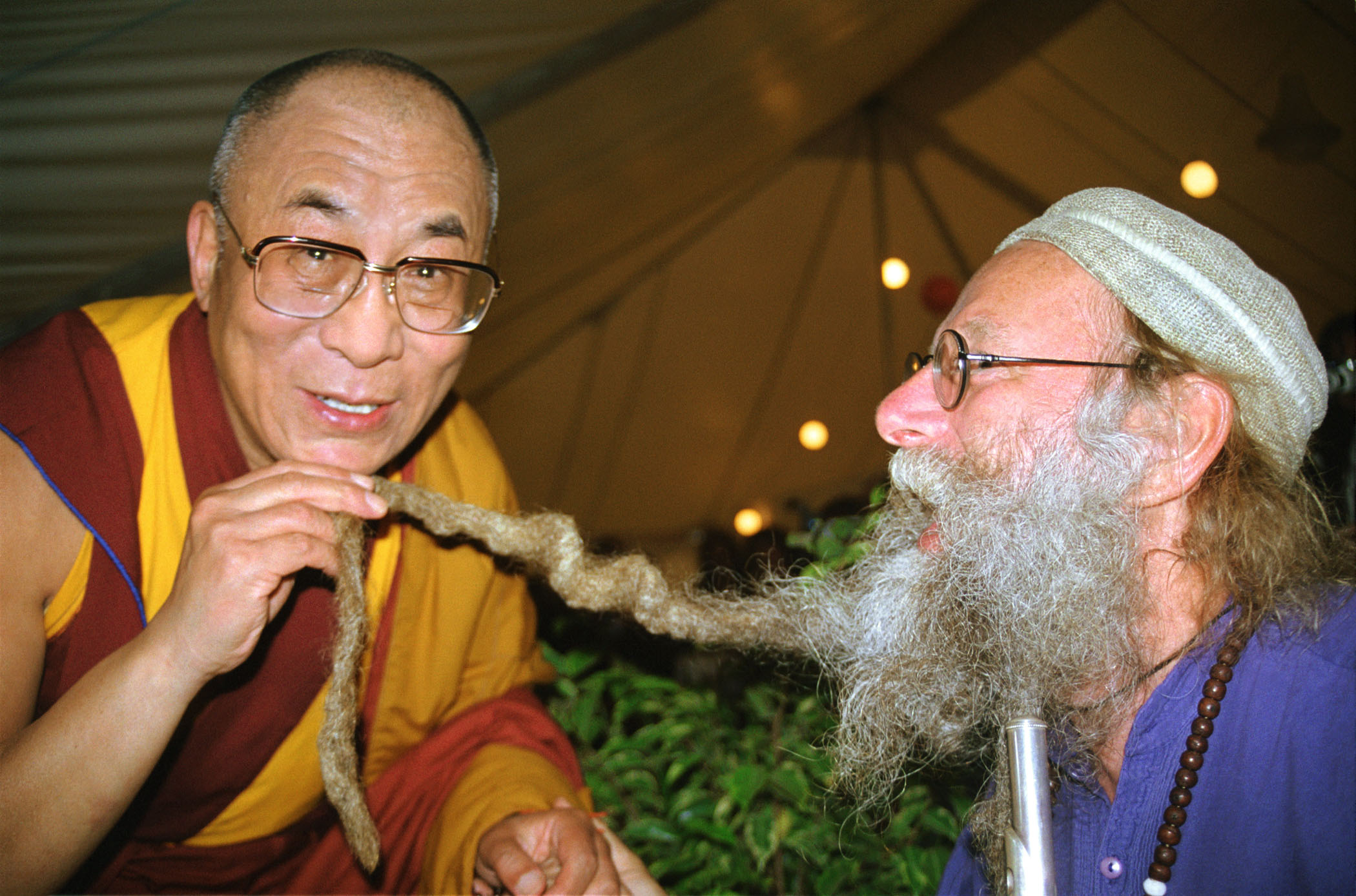 Далай Лама и музыкант Дин Эвенсон
