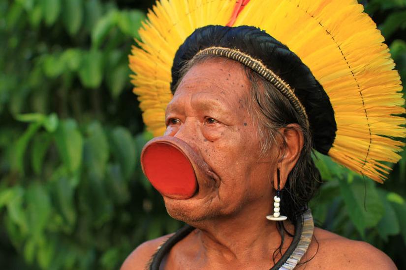 Вождь индейцев Каяпо Раони